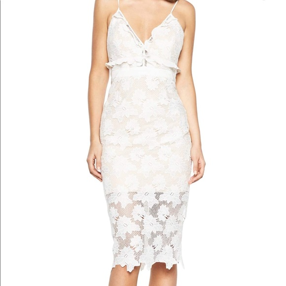 "02e701ec9a20a8 Bardot Dresses & Skirts - Bardot white lace dress- ""Vienna lace overlay"""